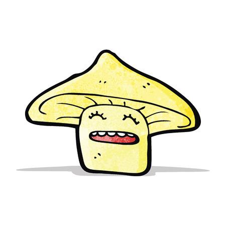 a toadstool: toadstool cartoon Illustration