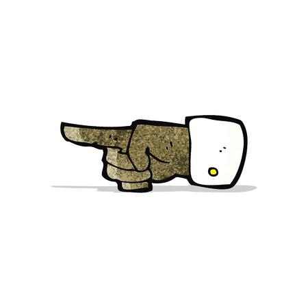 mano cartoon: puntamento simbolo del fumetto mano Vettoriali