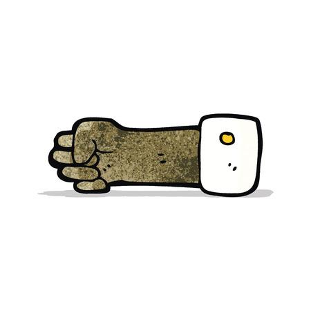 mano cartoon: puntamento simbolo fumetto mano
