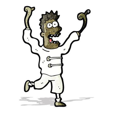 madman: dibujo animado loco loco Vectores
