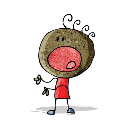 complaining: cartoon complaining doodle man