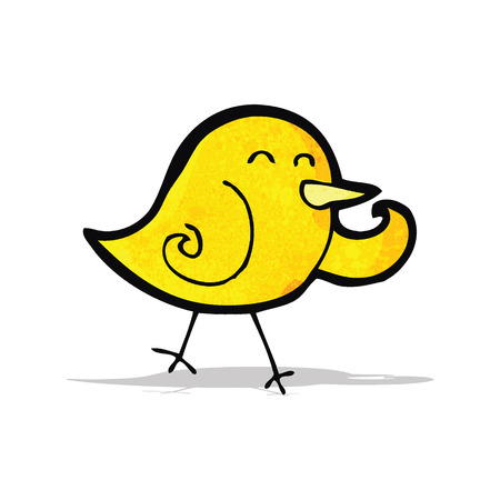 cartoon little bird Illustration