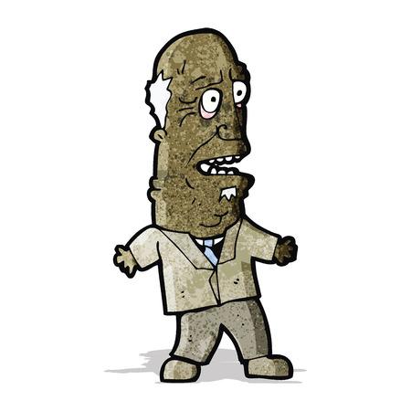 old man cartoon: shocked old man cartoon Illustration
