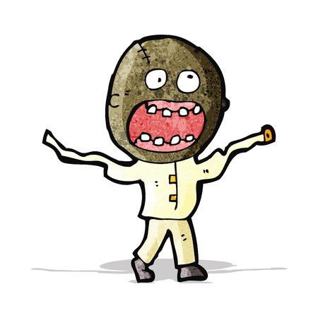 cartoon mad man in straight jacket Vector