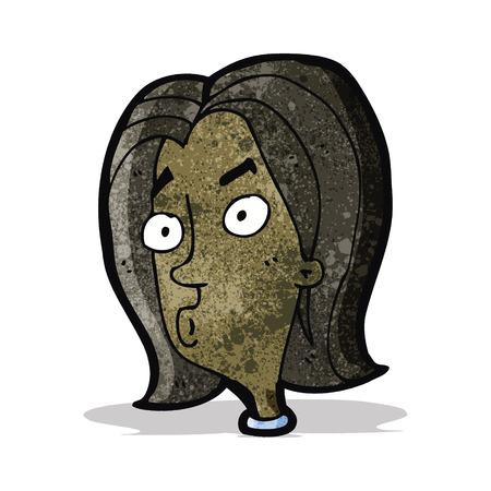 meraklı: cartoon curious woman