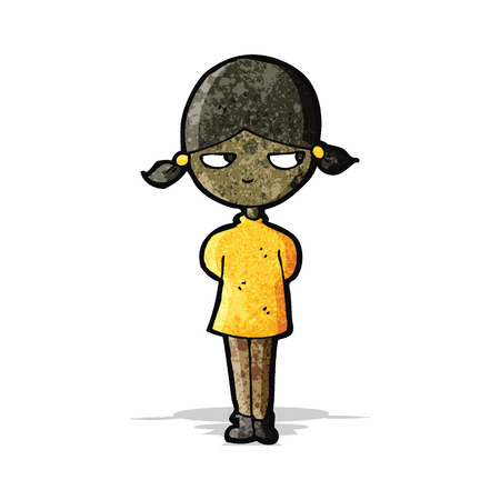 grumpy: cartoon grumpy girl Illustration