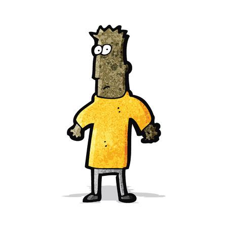 shoulders: cartoon man shrugging shoulders