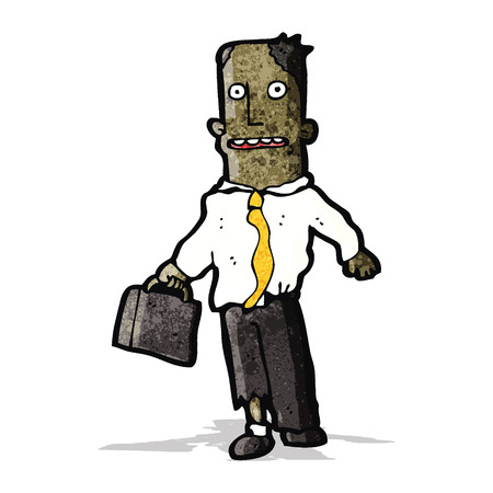 mugged: cartoon office guy with torn clothes Illustration