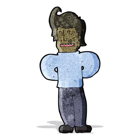 cartoon confident man Illustration