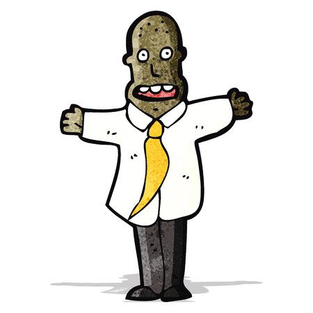 shoulders: cartoon businessman shrugging shoulders