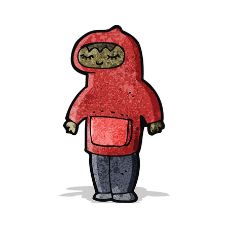 encapuchado: hombre de la historieta que desgasta la tapa encapuchada