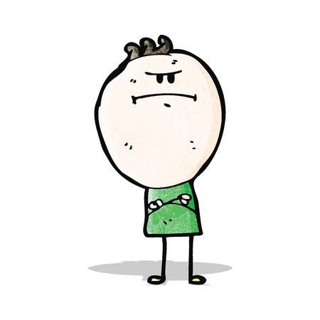 grumpy: cartoon grumpy doodle man