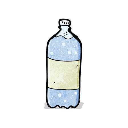 cartoon water bottle Ilustracja