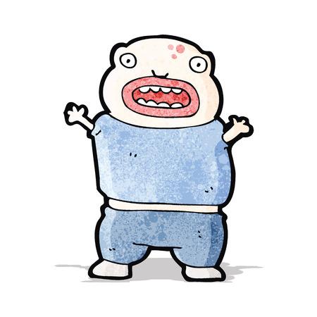mutant: cartoon mutant boy