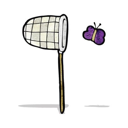 cartoon butterfly: mariposa de la historieta y la red Vectores