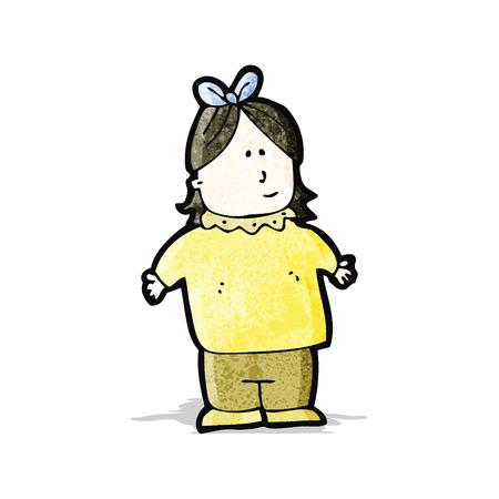 fat girl: cartoon fat girl Illustration