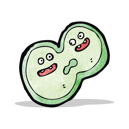 ameba: ameba de dibujos animados