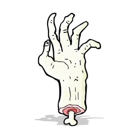 gross severed hand cartoon Illustration