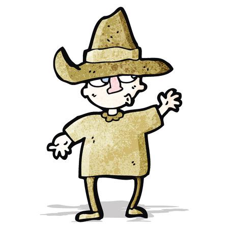 peasant: cartoon peasant Illustration