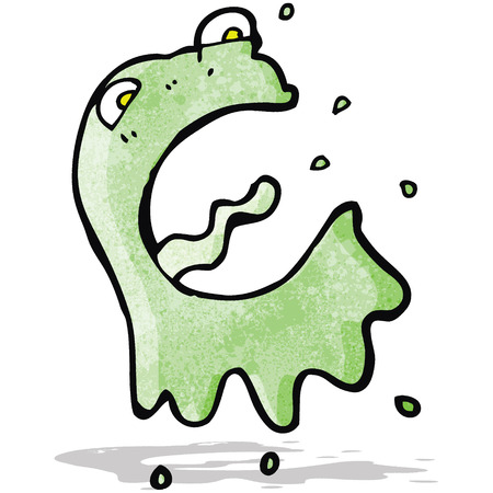 slimy: cartoon slimy ghost