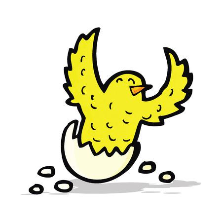 flapping: cartoon flapping bird Illustration