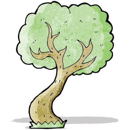 twisty: cartoon twisty tree Illustration