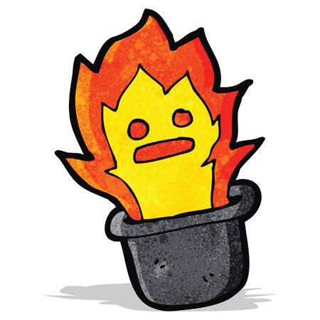top hat: cartoon magic flaming top hat