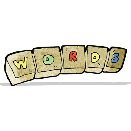 letter blocks: cartoon letter blocks