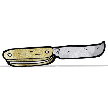 pocket knife: cartoon pocket knife