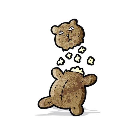 cartoon torn teddy bear Vector