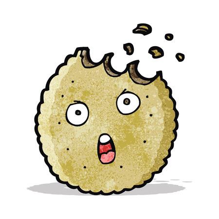 bitten: de dibujos animados de la galleta mordida