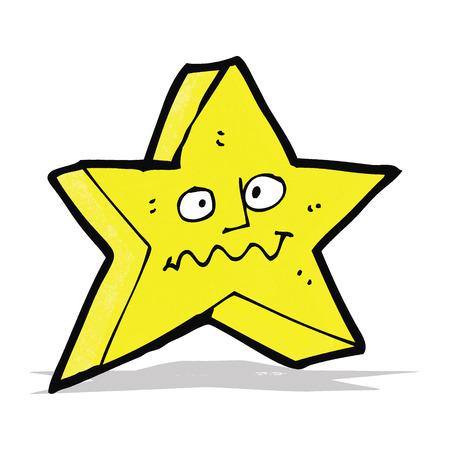 estrella caricatura: estrella de la historieta con la cara divertida
