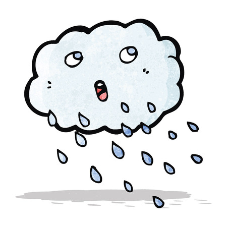 raining: cartoon raining cloud