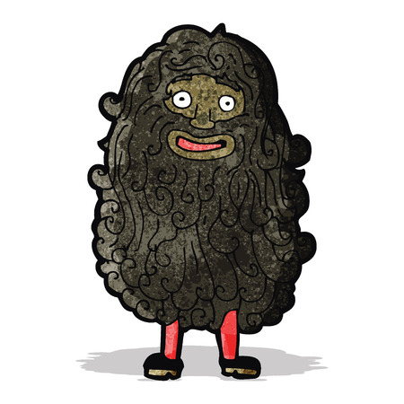 bearded: cartoon bearded man Illustration