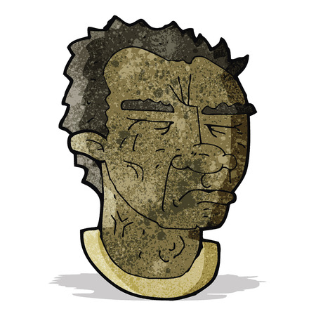 wrinkled face: cartoon man with frowning face