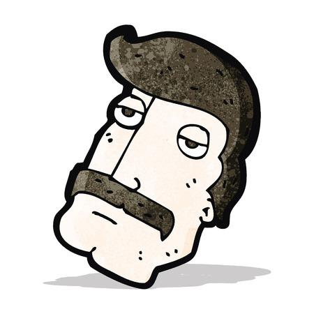impressive: cartoon man with impressive mustache
