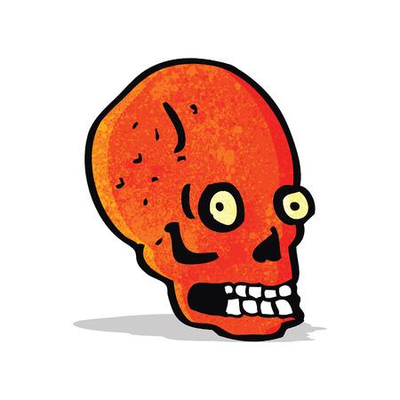 staring: cartoon spooky staring skull