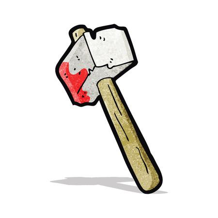 cartoon bloody hammer Фото со стока - 32724428