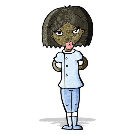 enfermero caricatura: enfermera de la historieta Vectores