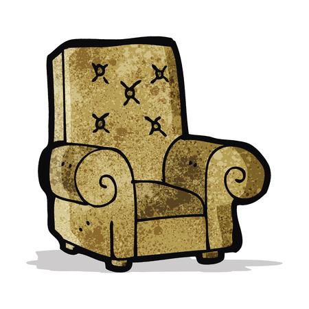 leather chair: sedia in pelle cartone animato