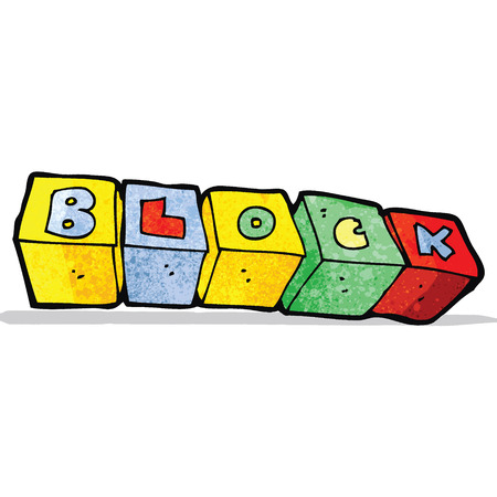 letter blocks: cartoon letter blocks