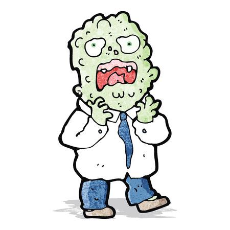 mutant: cartoon mutant monster man Illustration