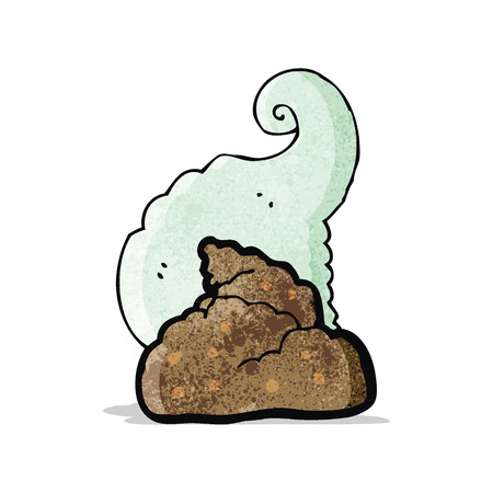 cartoon smelly poop Vector