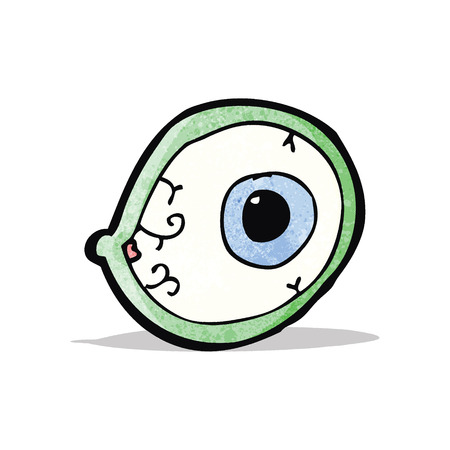 mystic: spooky mystic eye cartoon