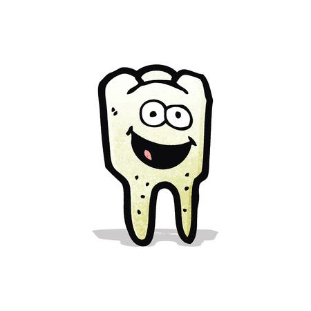 tooth cartoon: tooth cartoon character Illustration