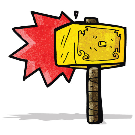 cartoon hammer of thor Vector