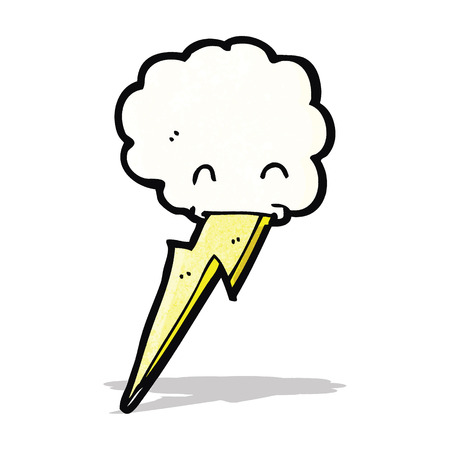 spitting: cartoon cloud spitting lighning bolt