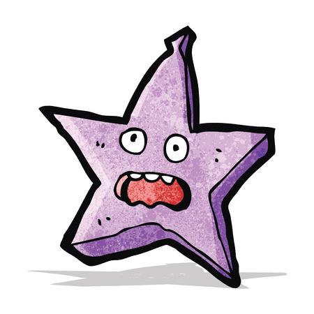 estrella caricatura: estrella de la historieta