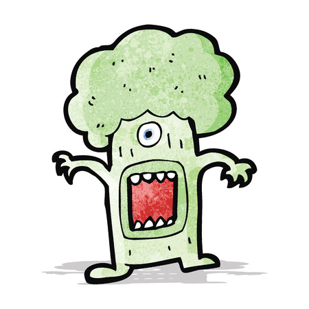 brocolli: cartoon monster brocolli Illustration