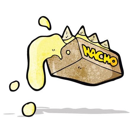 nachos: cartoon nachos Illustration
